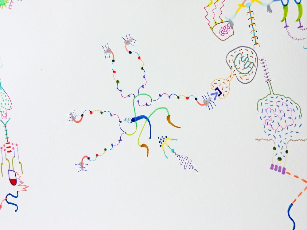 Contingent Doodle Structure (detail) 2015