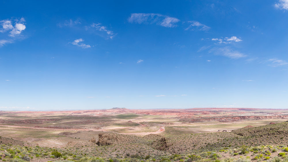 Panorama of The Painted Desert