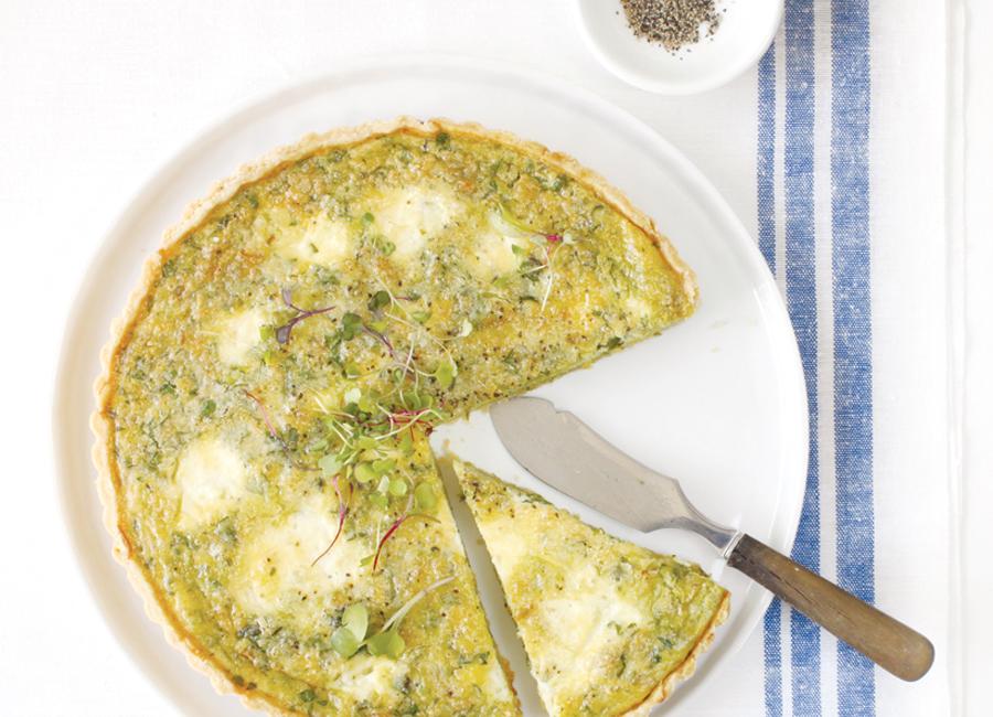 homemade ricotta + asparagus tart