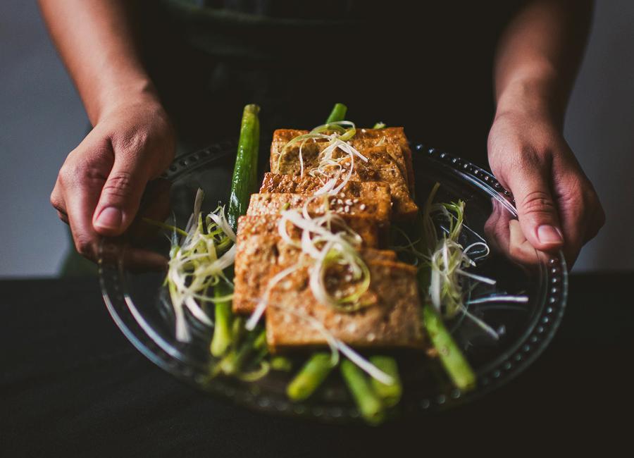maple soy braised tofu