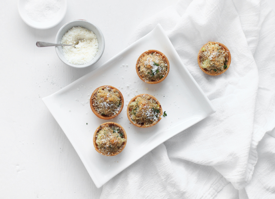 oyster tartlettes with creamed leeks