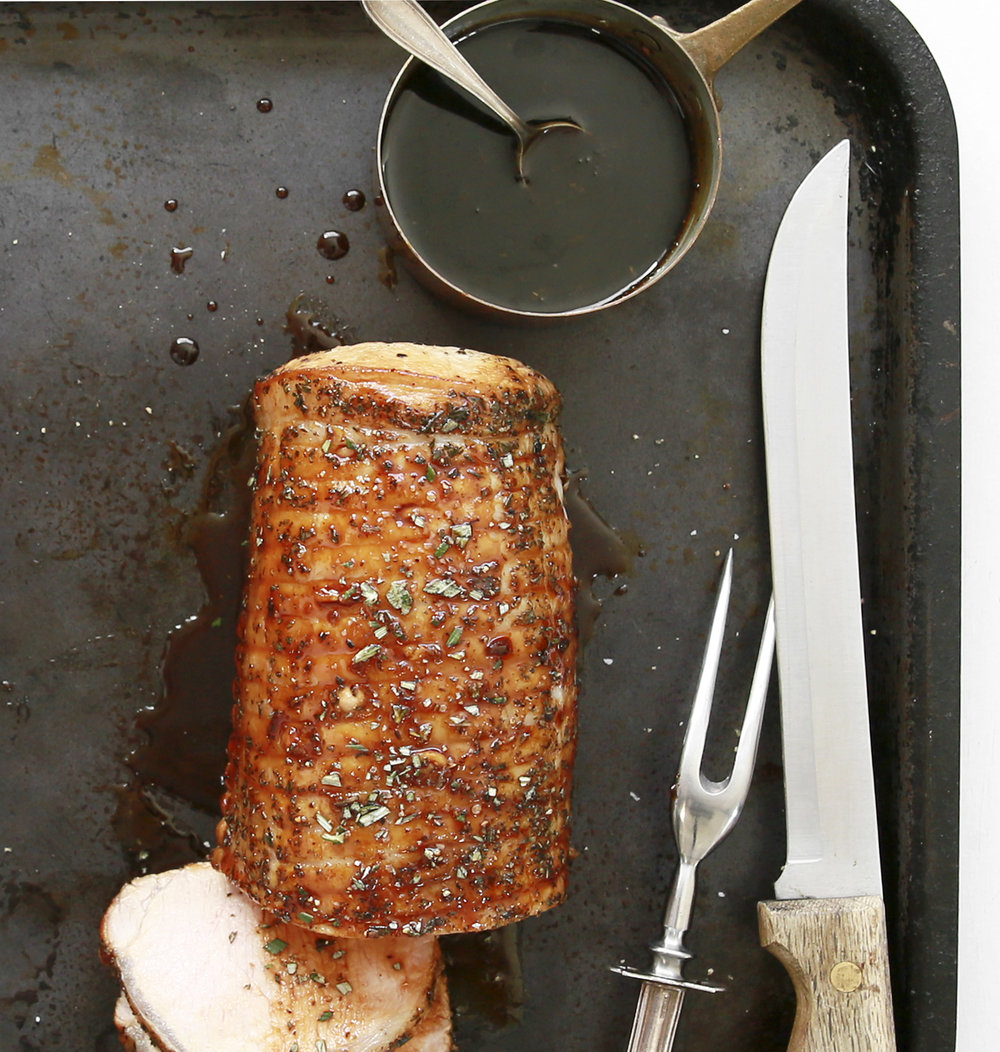 rosemary-encrusted pork loin