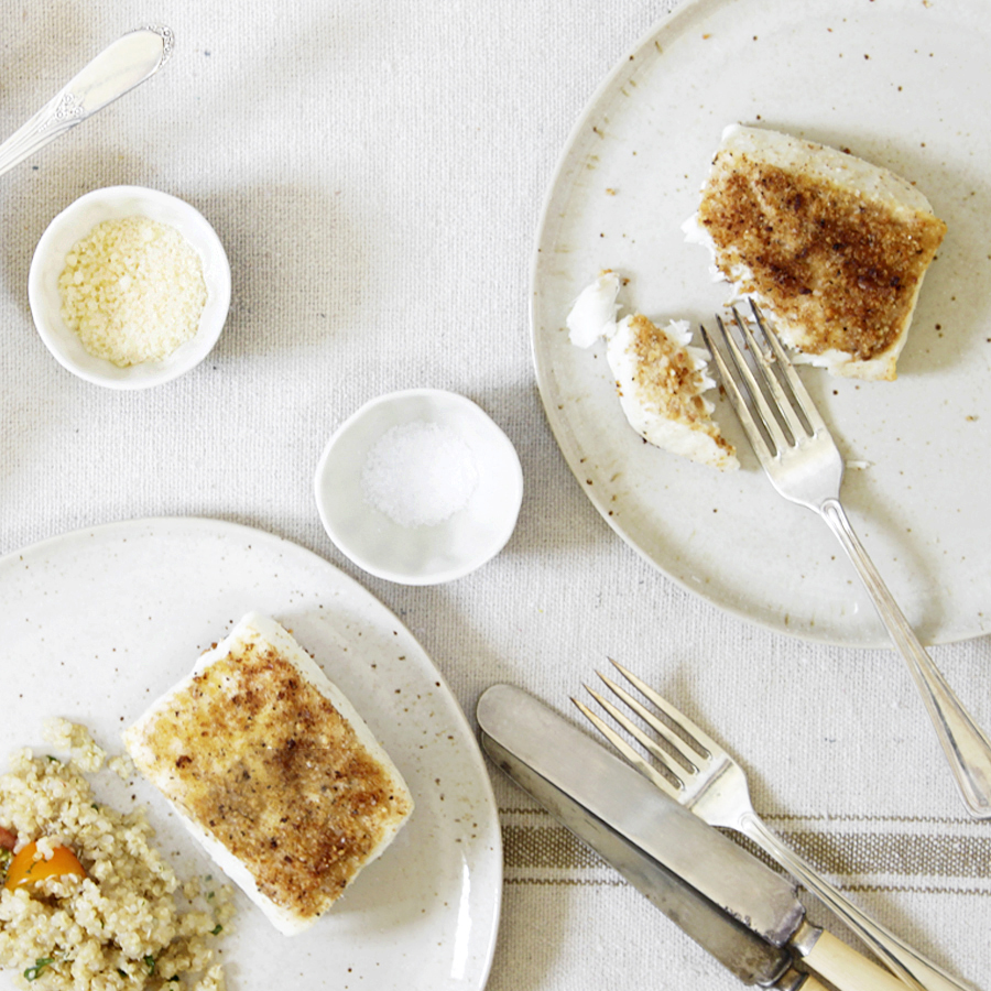 baked fish with breadcrumbs