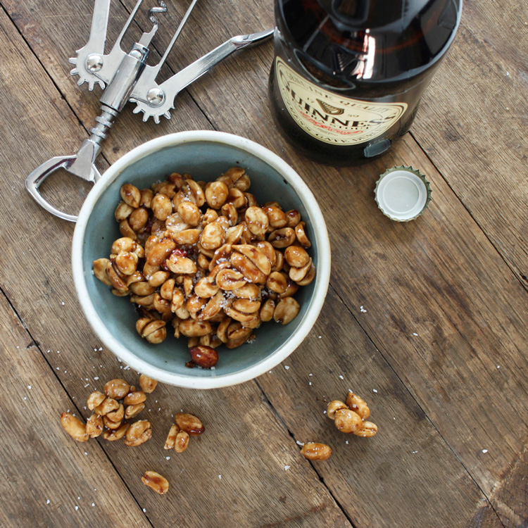 Guinness-glazed nuts