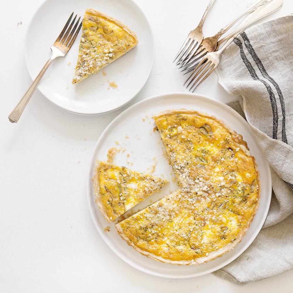 caramelized shallot + goat cheese tart
