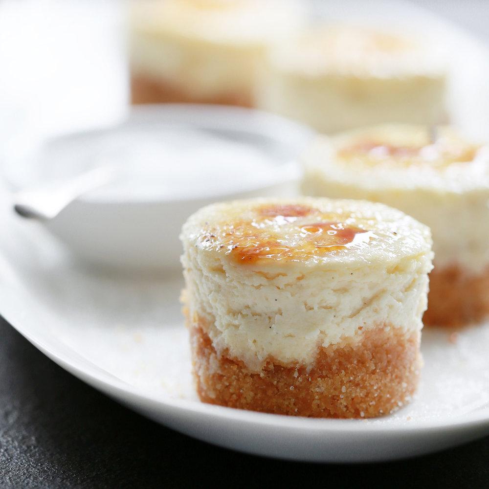 brûléed cheesecake