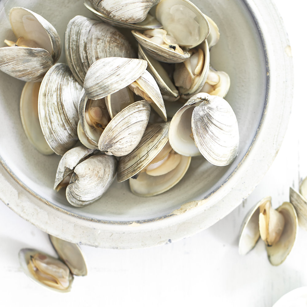 steamed clams with garlic butter