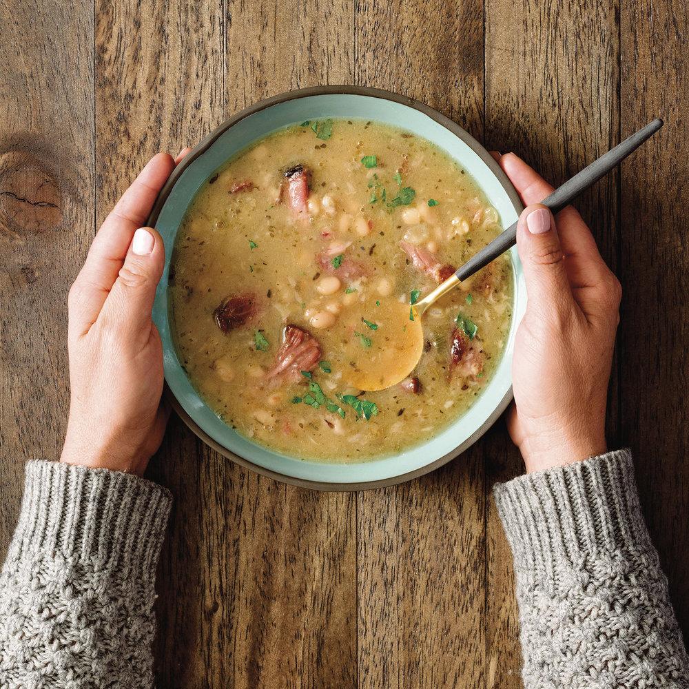 bean + ham hock stew