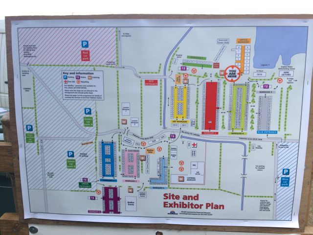 The map that shows where the marquees and lecture areas are for BirdFair...it's enormous.