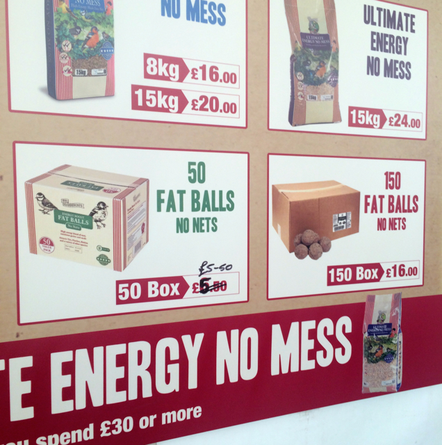 "To bird food...and since I have the sense of humor of a 13 year old, I giggled mercilessly at the idea of purchasing 50 fat balls...that are ""no mess."" Though on Facebook someone informed me that these are called Meisenknödel"" in German which is supposed to mean ""tit dumpling."" What a delightful phrase!"