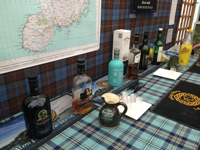 A scotch tasting held at the Islay booth...why yes...yes I am very interested in visiting Scotland...for birds and other things.