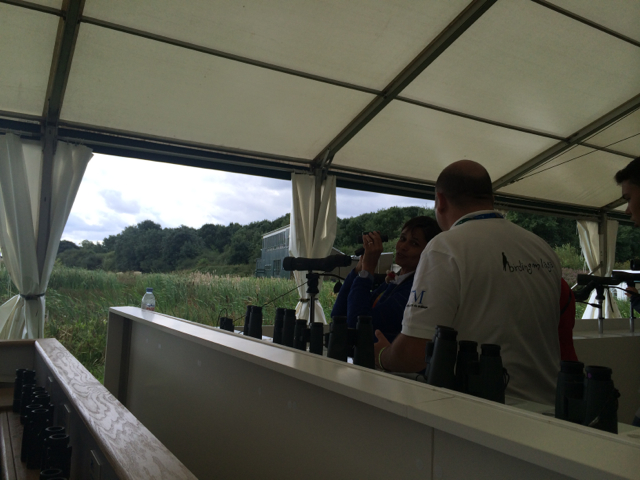 The optics tent at BirdFair.