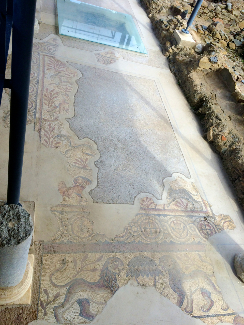 Oh hey, no biggie, just some 5th century Roman mosaics.