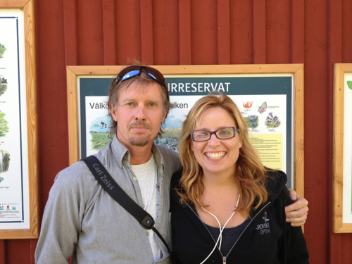 Daniel Green with me in Sweden. He helped us find lesser-white fronted goose.
