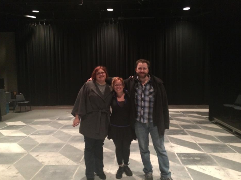 My friends Amy and Jody went with me to Terre Haute for a professor's retirement and we stood on the old New Theatre state where we honed our performance, directing and writing skills.
