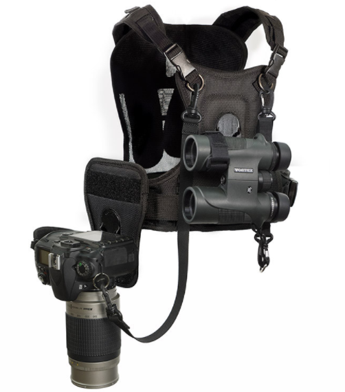 The CCS Binocular and Camera Harness from Cotton Carrier.