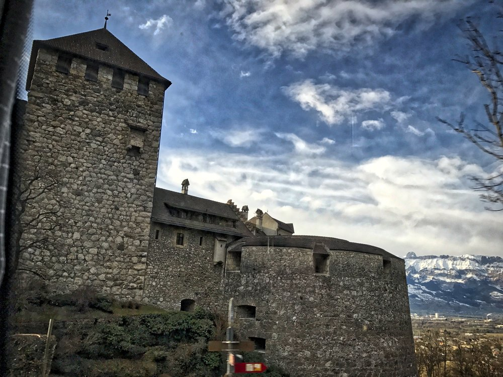 As we headed up to a ski resort we passed Vaduz Castle, the official residence of the Prince of Liechtenstein.