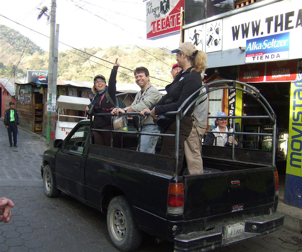 "Our ""bus"" was a pick up truck and they ended up corralling ten birders like livestock in the back to take us up to the horned guan preserve."