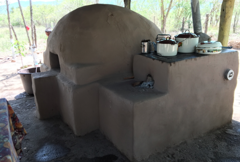 Outdoor kitchen in Honduras.