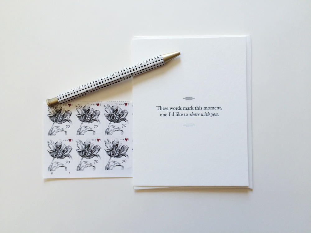 Letterpress Cards by Of Note Stationers