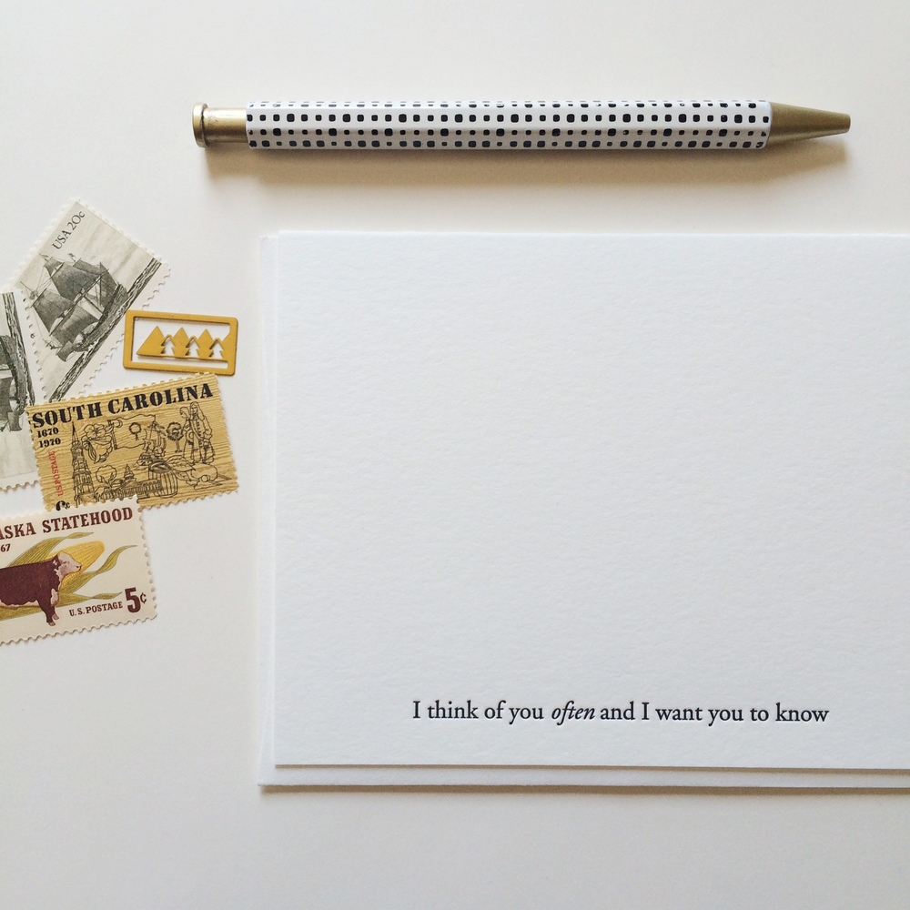 Think of You Often | Of Note Stationers