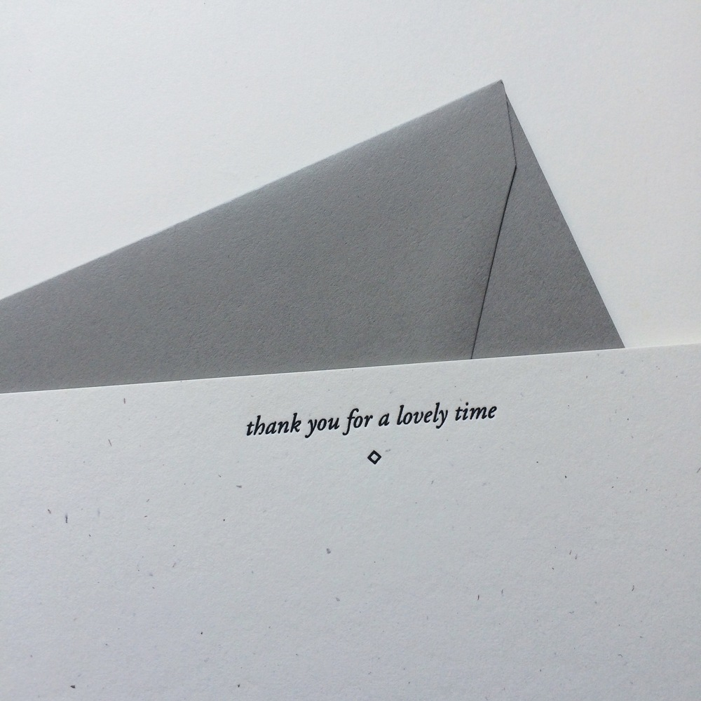 Lovely Time Thank You Card | Of Note Stationers