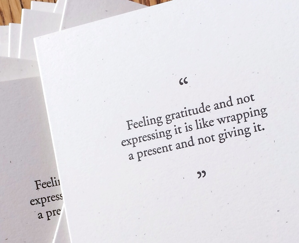 Gratitude | Of Note Stationers