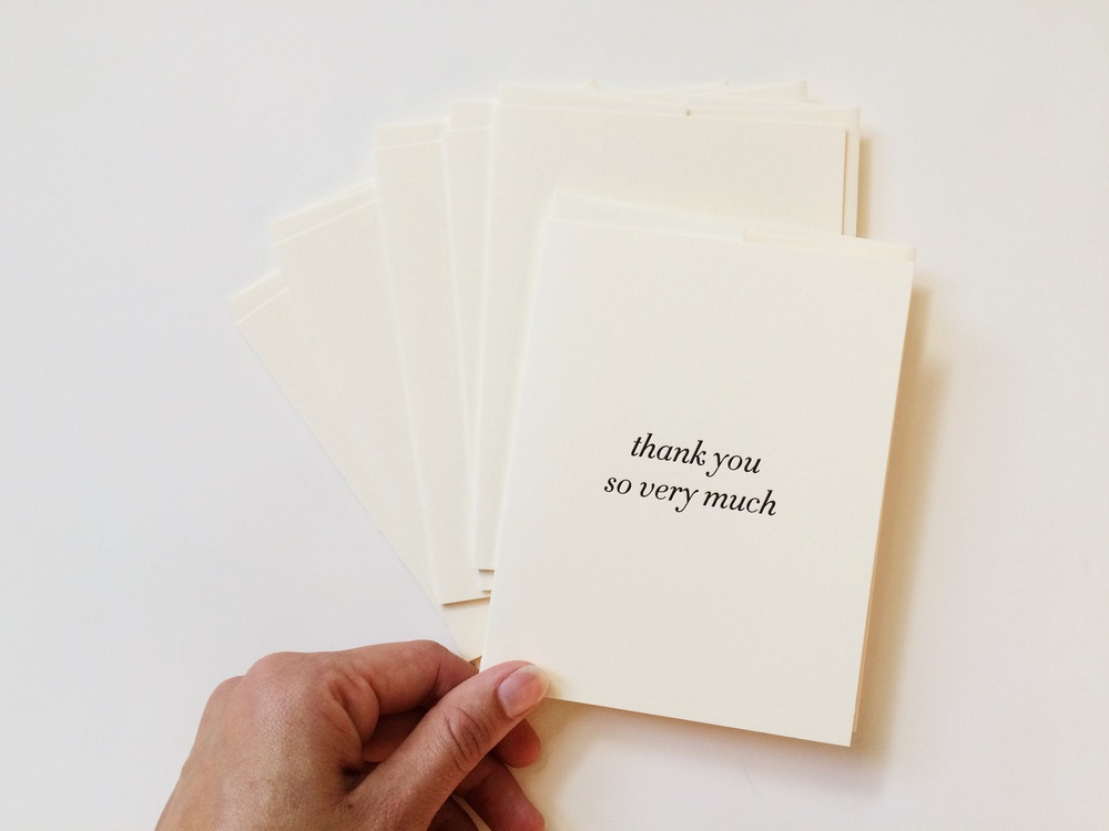 Thank you so very much | Of Note Stationers