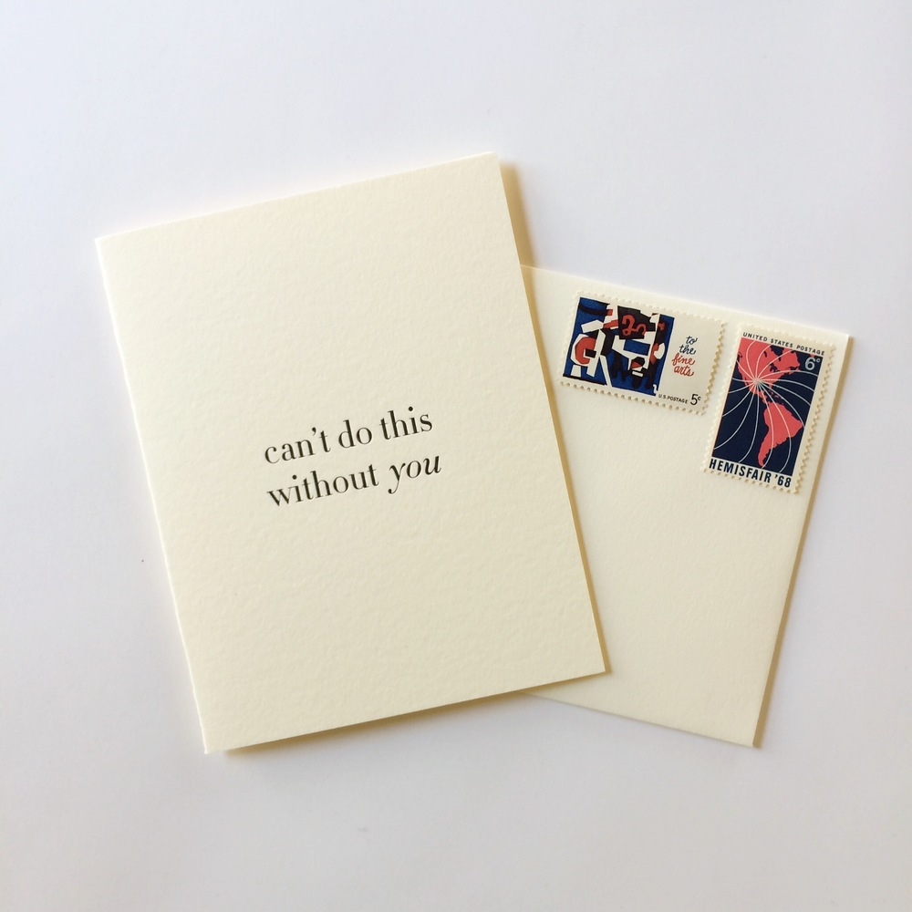 Can't do this without you | Of Note Stationers