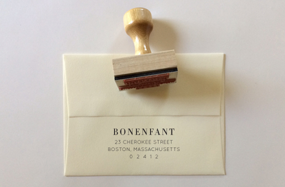Custom Return Address Stamp | Of Note Stationers