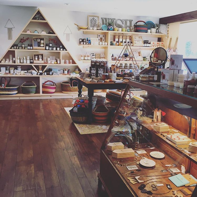 Shop view of Wish Gift Co. in Cape Cod, MA.