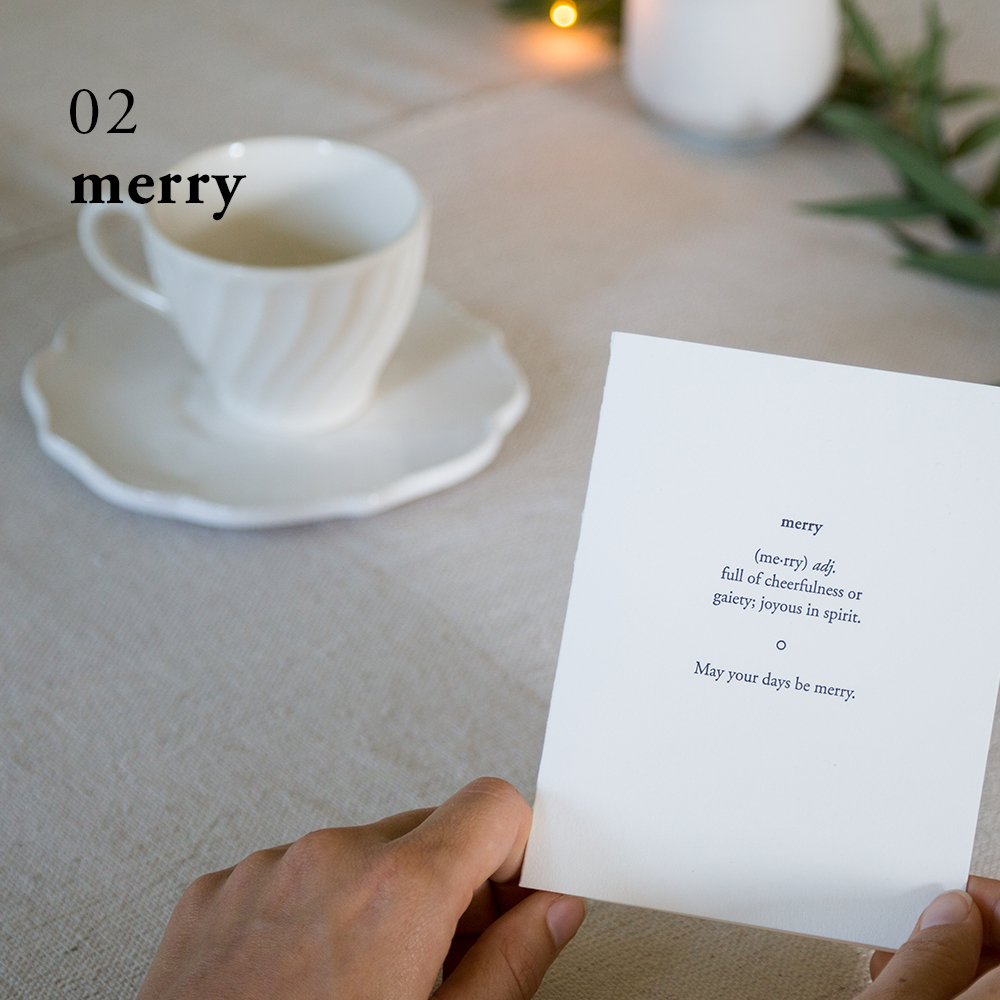 Merry Christmas Card | Of Note Stationers