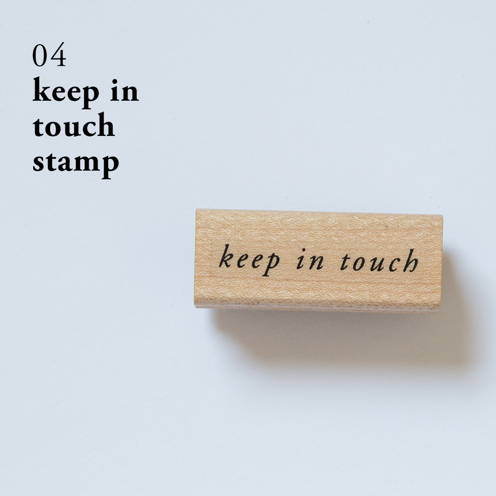 Keep In Touch Rubber Stamp | Of Note Stationers