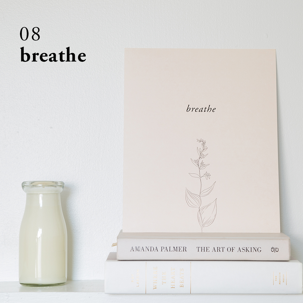 Breathe Art Print | Of Note Stationers