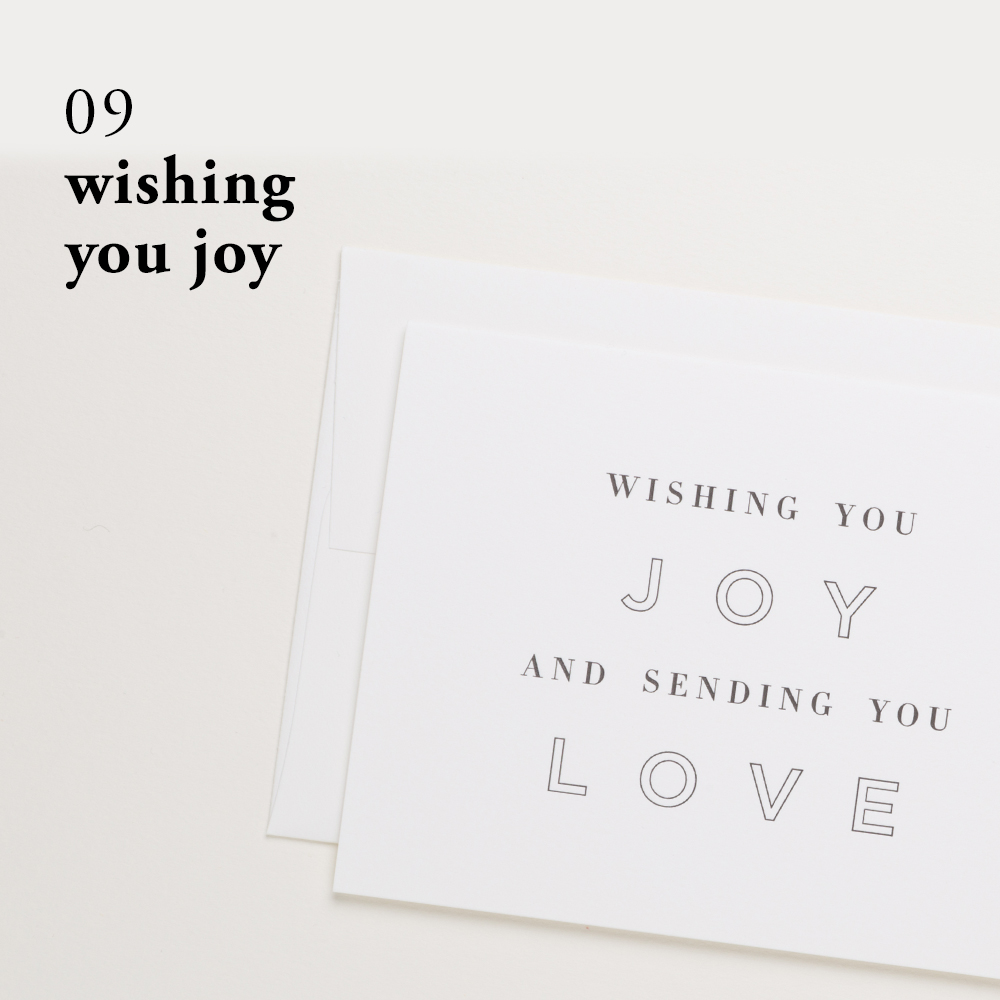 Wishing You Joy | Of Note Stationers
