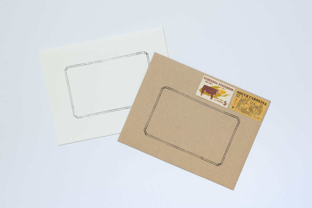 Classic Border Stamp | Of Note Stationers