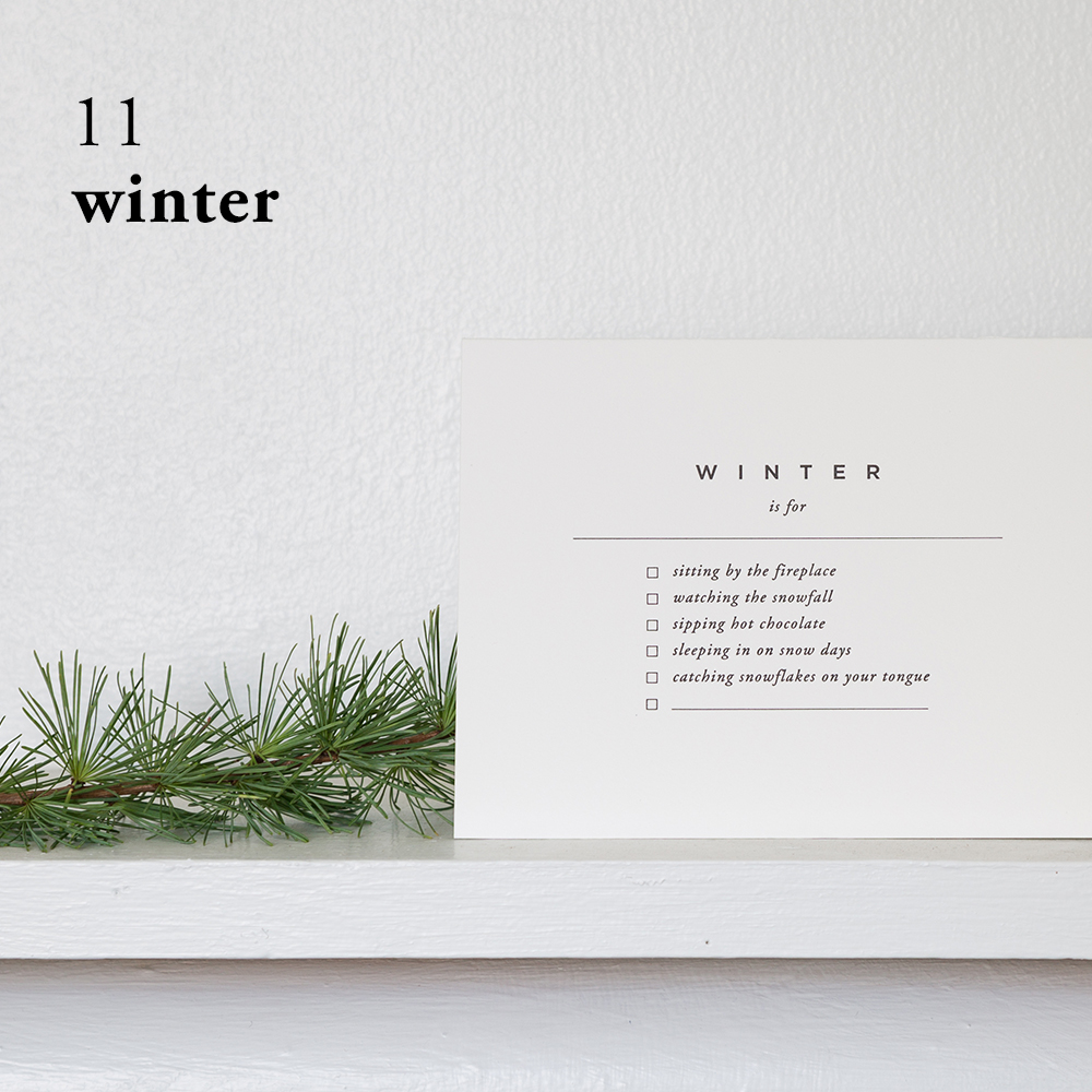 Winter Seasonal Celebration by Of Note Stationers