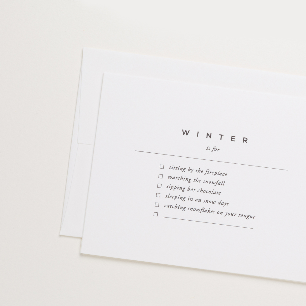Winter Celebration Card | Of Note Stationers