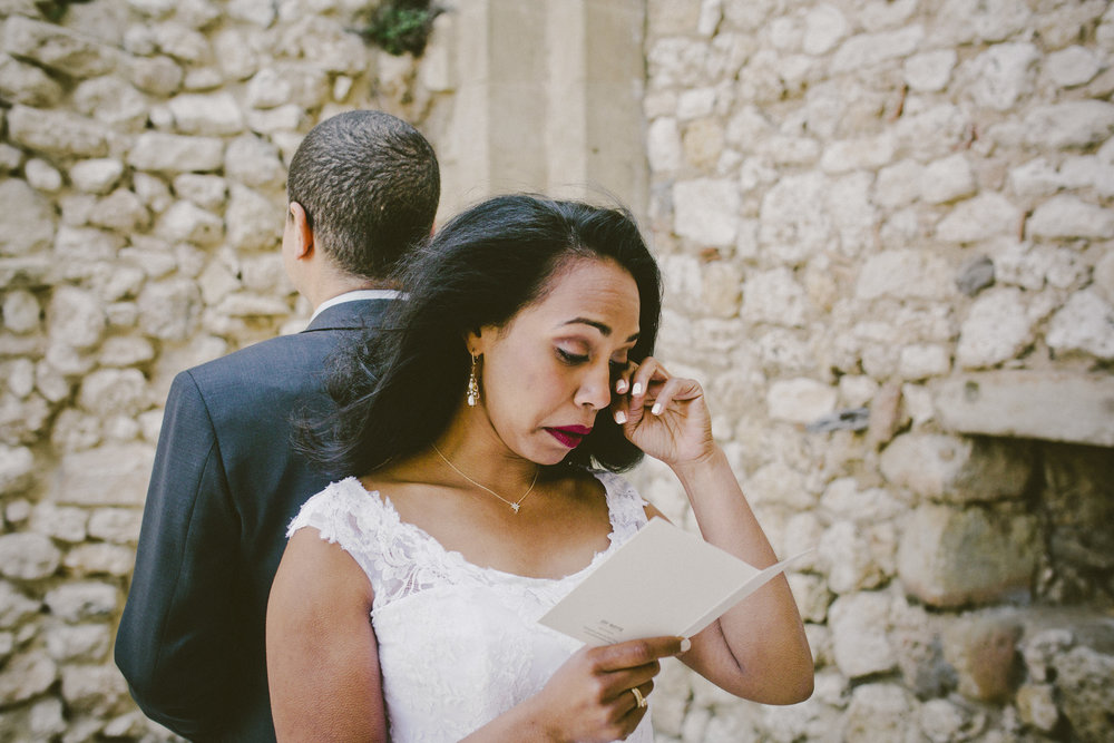Emotional First Look | Of Note Stationers | Amy Emily Photography