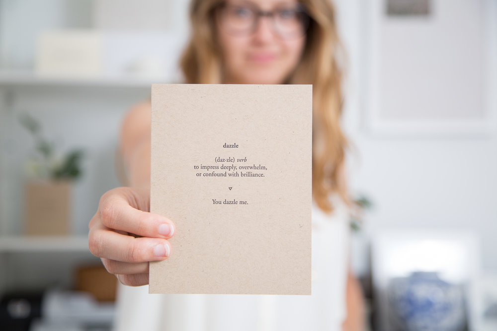 You dazzle me | Of Note Stationers