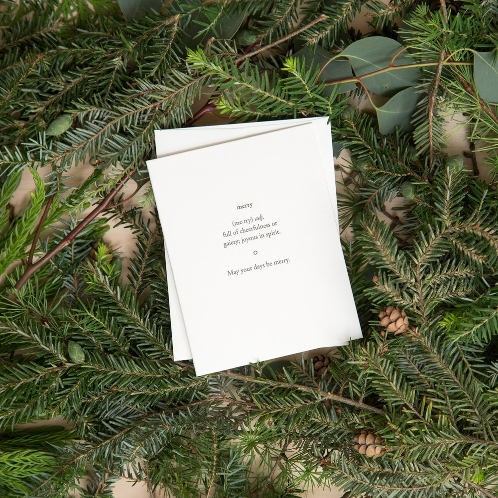 Merry | Holiday Cards | Of Note Stationers