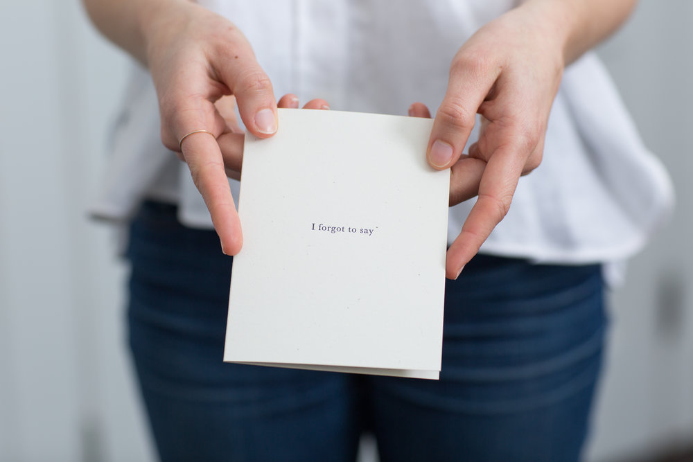 For all the things you forgot to say | Letterpress cards for Meaningful Correspondence by Of Note Stationers