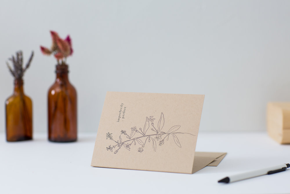Celebrating the imperfect | letterpress cards for meaningful correspondence by Of Note Stationers