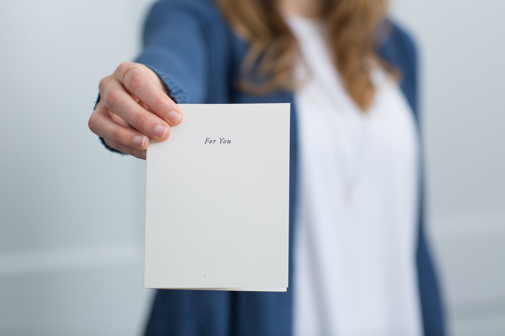 For You | Letterpress cards for love and support by Of Note Stationers