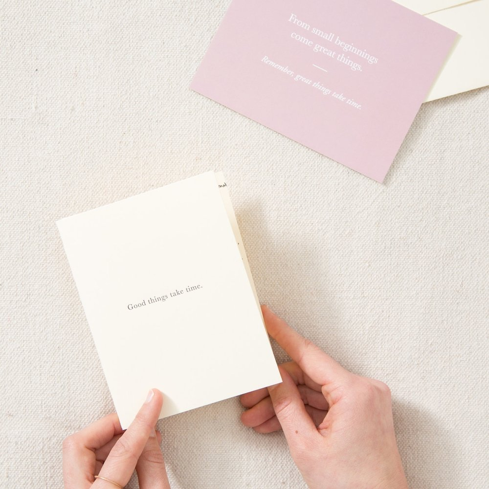Good things take time | Pass it On | Of Note Stationers