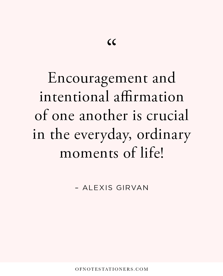 The Power of Intentional Affirmation, a conversation with Alexis Girvan | Of Note Stationers