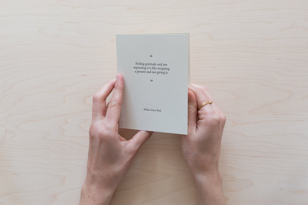 Letterpress Cards for Expressing Gratitude | Of Note Stationers