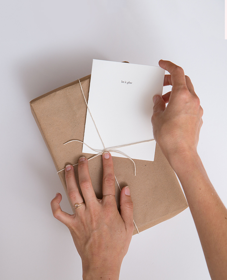 Let It Glow   A Sentiment to Celebrate Engagement   Of Note Stationers