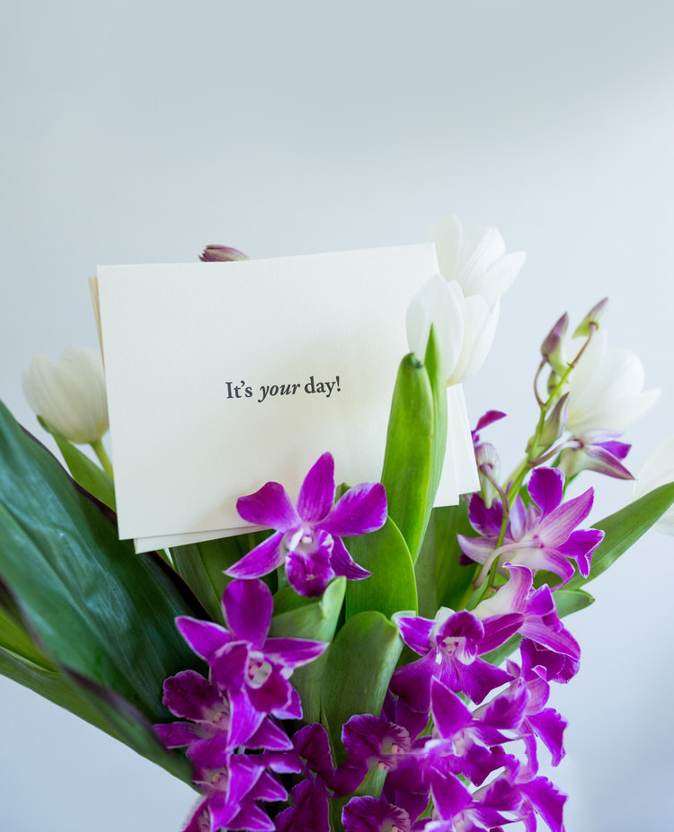 It's your day!   Note to embrace the magic of a wedding day   Of Note Stationers