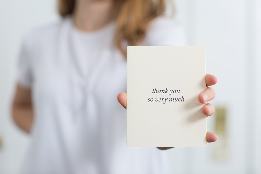 Elegant wedding thank you cards | Of Note Stationers